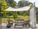 Kookaburra® 3m Square Dappled Shade Sail with Frame and Fixing Kit
