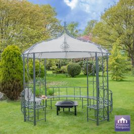 3m x 3m Abbotsford Metal Gazebo with Bench
