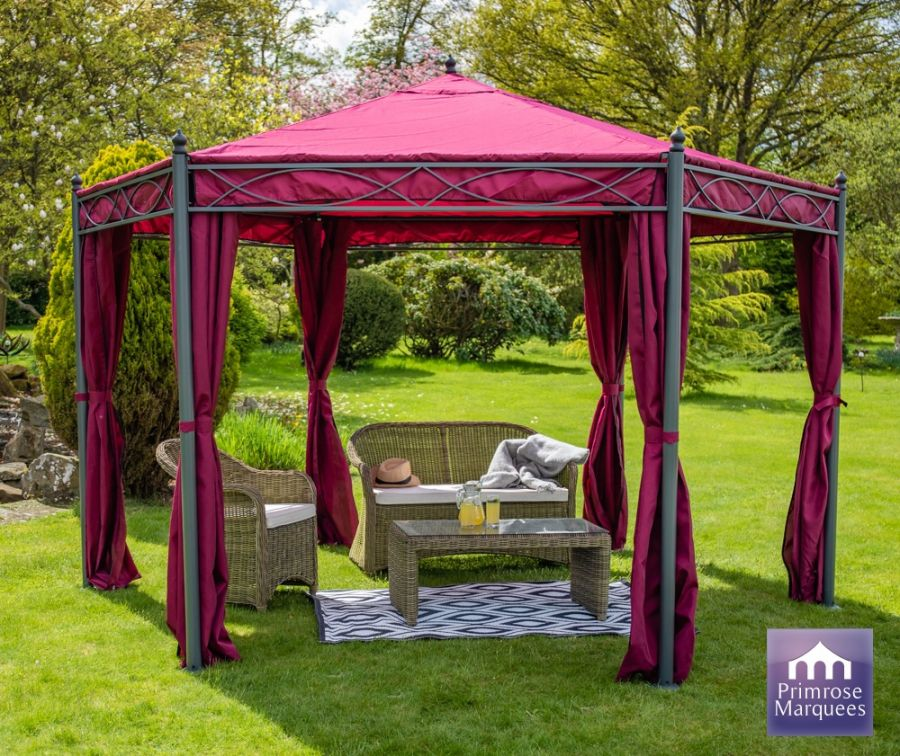 4m x 4m Anjuna Gazebo with Side Walls
