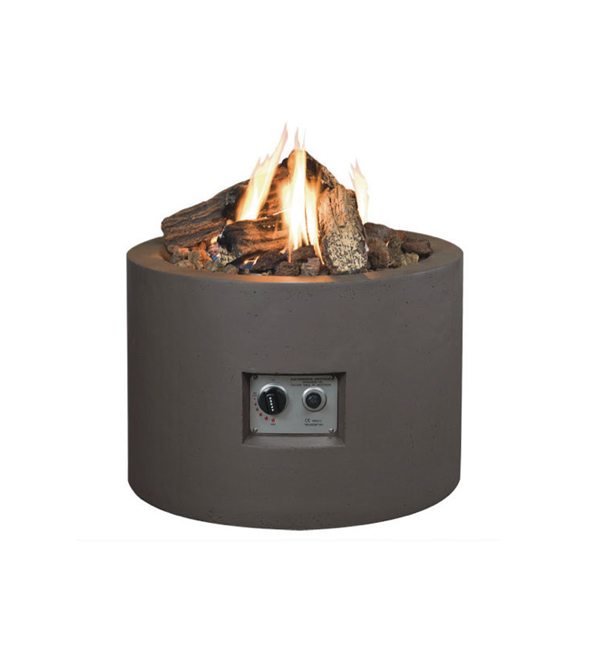 Norfolk Leisure 61cm Round Cocoon Gas Firepit in Taupe