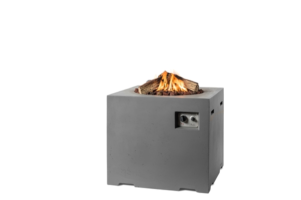 76cm Square Cocoon Gas Firepit in Grey