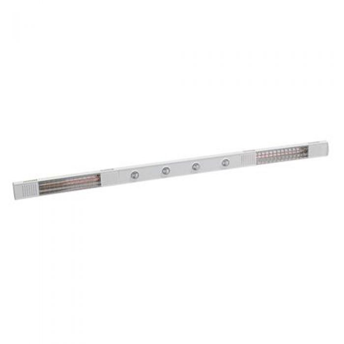 4kw White Double Infrared Heater with 4 LED lights and Ultra Low Glare by Burda™