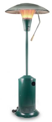 13kW Heat Focus Powder Coated Green Gas Patio Heater by Sahara™