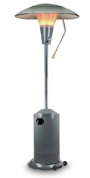 13kW Heat Focus Powder Coated Charcoal Gas Patio Heater by Sahara™