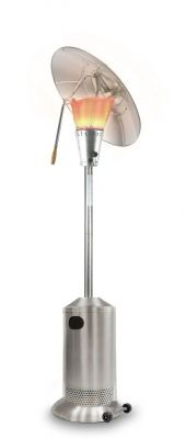 13kW Freestanding Heat Focus Powder Coated Steel Silver Gas Patio Heater