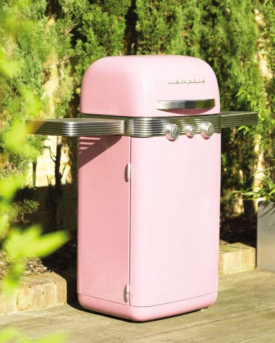 2 Burner Stainless Steel Barbecue in Pink by Memphis™