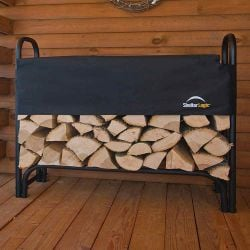 1.2m (3ft 11in) Log Store With Cover by Rowlinson®