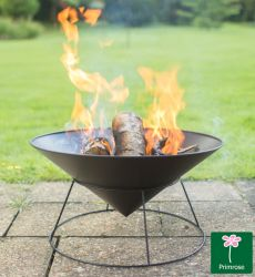 "54cm Cast Iron Fire Pit ""Kalama"" - by Primrose™"