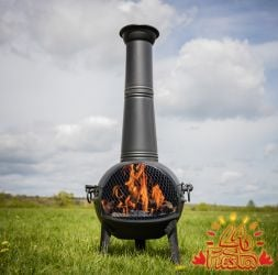 122cm Rio Tinto Extra Large Chimenea In Steel  - by La Fiesta