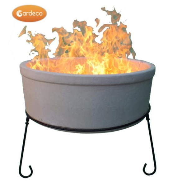 75cm Atlas Fire Bowl in Natural Clay by Gardeco™