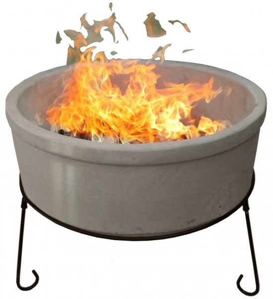 75cm Atlas Fire Bowl in Glazed in Ivory by Gardeco™