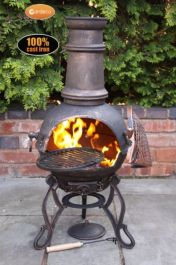 H98cm Toledo Medium Chiminea in Bronze