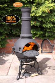 Toledo Large Chiminea in Black by Gardeco™