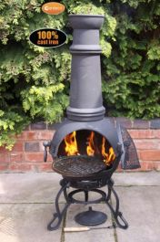 H129cm Toledo X-Large Chiminea in Black by Gardeco™