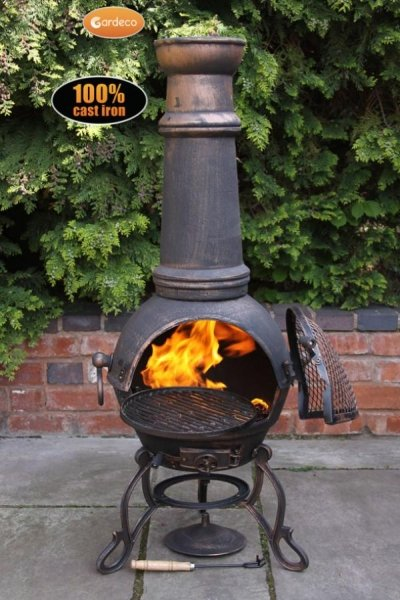 Toledo X-Large Chiminea in Bronze by Gardeco™
