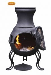 H70cm Billie - Small Chiminea in Black