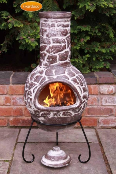Cantera - Mexican Chiminea in Brown H110cm