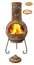 Sol - Large Mexican Chiminea in Orange H110cm