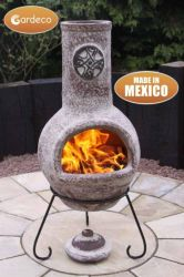 Cruz - Large Mexican Chiminea  in Sandstone H110cm