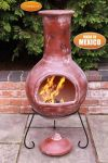 Colima - X-Large Mexican Chiminea in Red