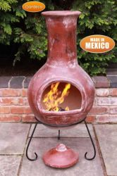 H125cm Colima - X-Large Mexican Chiminea in Red