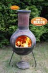 Plumas - X-Large Mexican Chiminea in Green