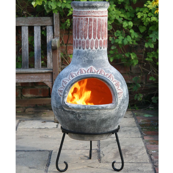 Plumas x large mexican chiminea in green for Mexican chiminea