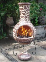 Cantera - X-Large Mexican Chiminea in Brown by Gardeco™