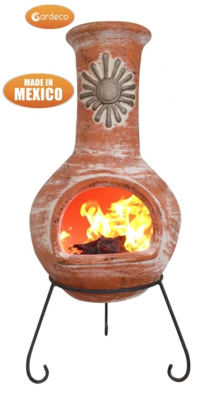 Sol - X-Large Mexican Chiminea in Orange by Gardeco™