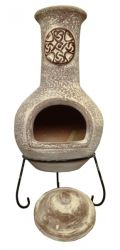 Cruz - X-Large Mexican Chiminea in Sandstone