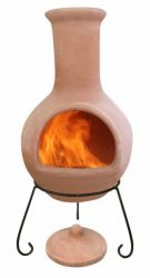 Colima - X-Large Mexican Chiminea in Natural