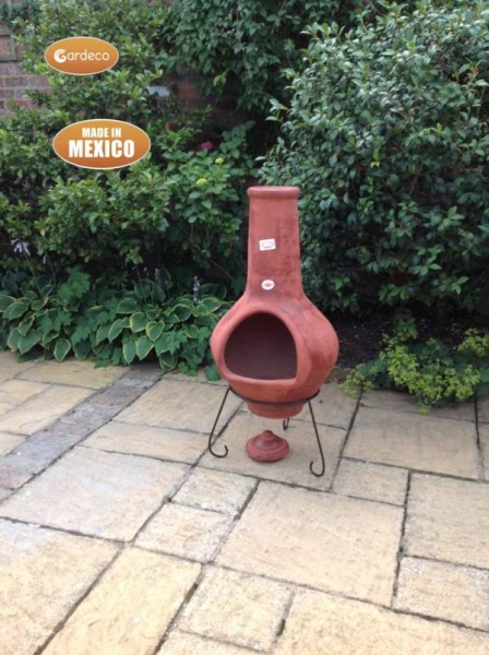 Tibor - Jumbo Mexixan Chiminea in Brown