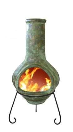 Tibor - Jumbo Mexixan Chiminea in Green
