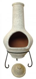 Tibor - Jumbo Mexixan Chiminea in Grey by Gardeco™