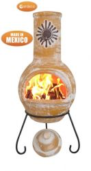 Sol - Large Mexican Chiminea in Yellow