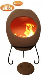 Ellipse X-Large Mexican Chiminea in Rose
