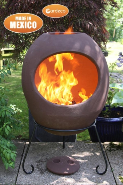 Ellipse X-Large Mexican Chiminea in Sandstone
