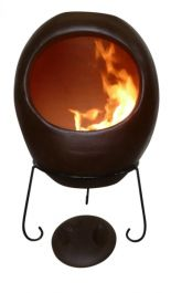 Ellipse X-Large Mexican Chiminea in Brown