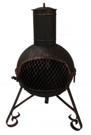 70cm Lexie Black Steel Chimenea