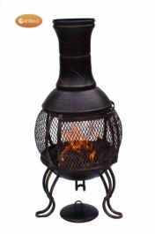 Cordoba - Steel Chiminea in Bronze H89cm by Gardeco™