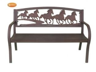 Cast-Iron Bench with Horse Deisgn by Gardeco™