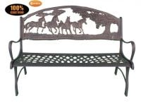 Cast-Iron Bench with Country Design