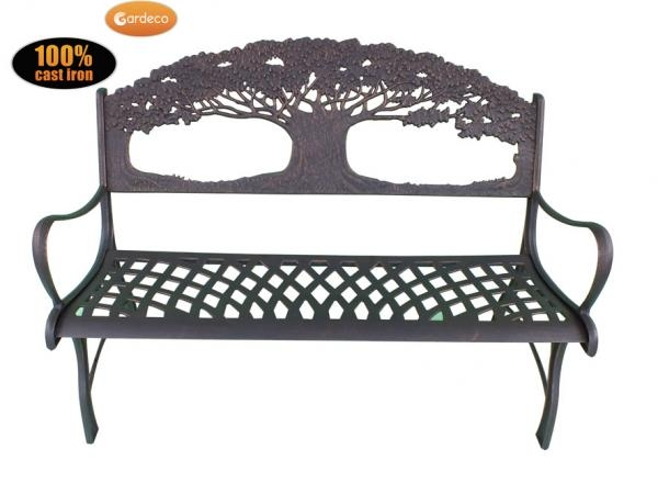 Cast-Iron Bench with Tree Design by Gardeco™