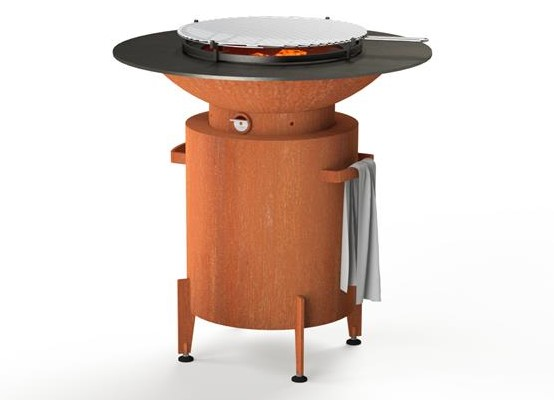 Corten Steel Round BBQ & Grill  - 1m (3ft 3in)