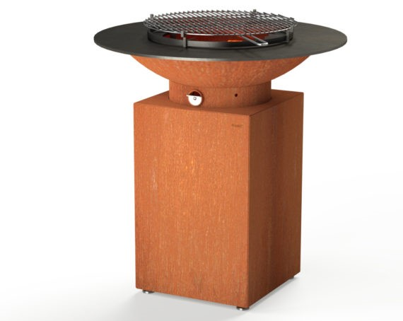 Corten Steel Square BBQ & Grill  - 1m (3ft 3in)