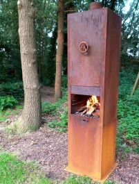 Corten Steel Outdoor Fireplace  - 2m (6ft 6in)