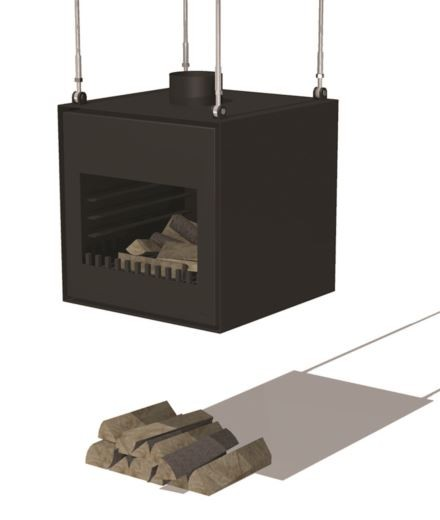 Black Coated Hanging Outdoor Fireplace by Adezz - 55cm (1ft 9in)