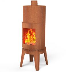 Corten Steel Round Outdoor Fireplace  - 1.5m (4ft 11in)