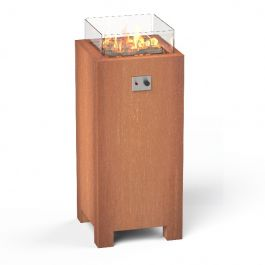 Corten Steel Gas Fire Table  - 1.2m (3ft 11in)