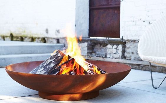 Corten Steel Firebowl  - 60cm (1ft 11in)